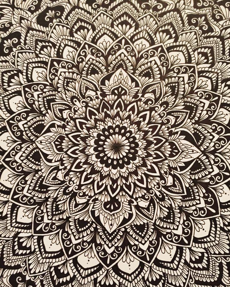 'The Whole Entire Universe' hand-drawn ink mandala by Sam Schroeder • @samschroederart • INSTAGRAM: samschroeds