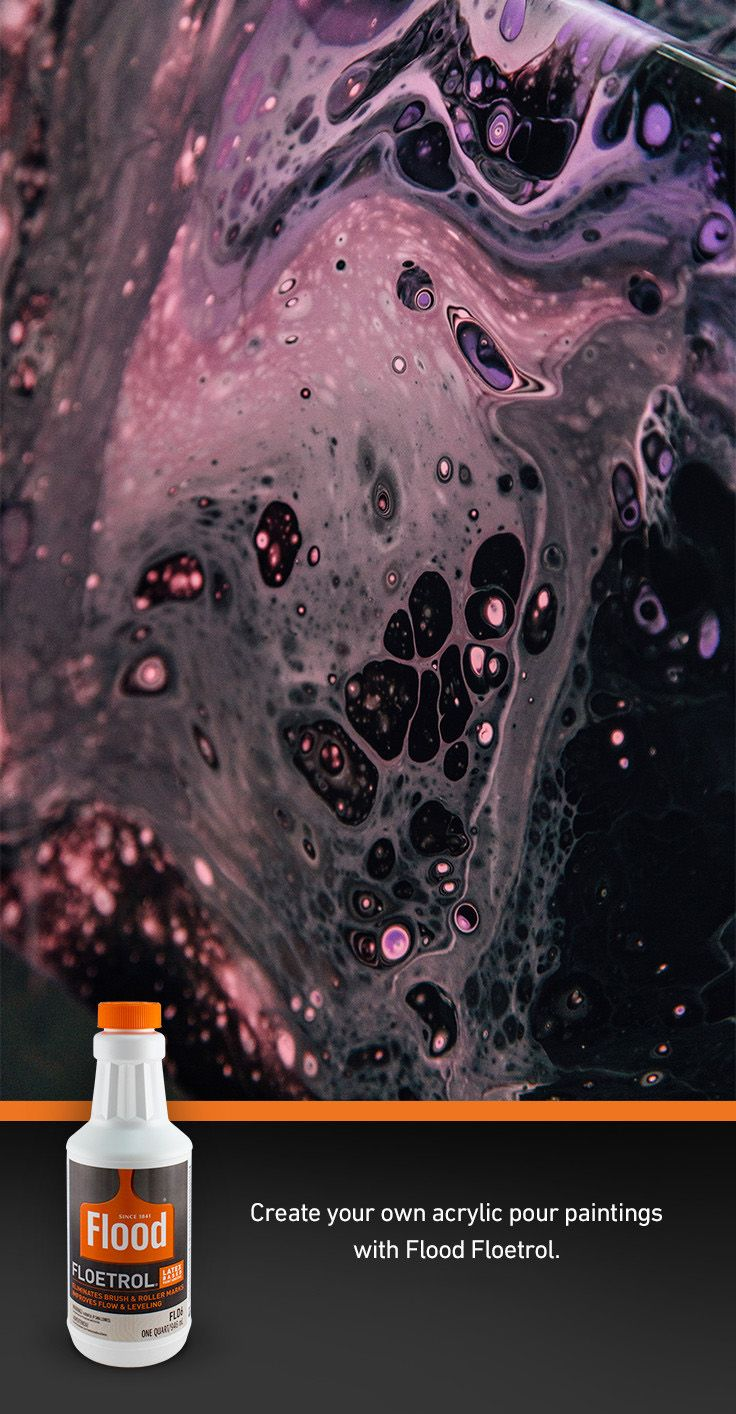 Acrylic Pouring With Floetrol Learn How To Create Your Own