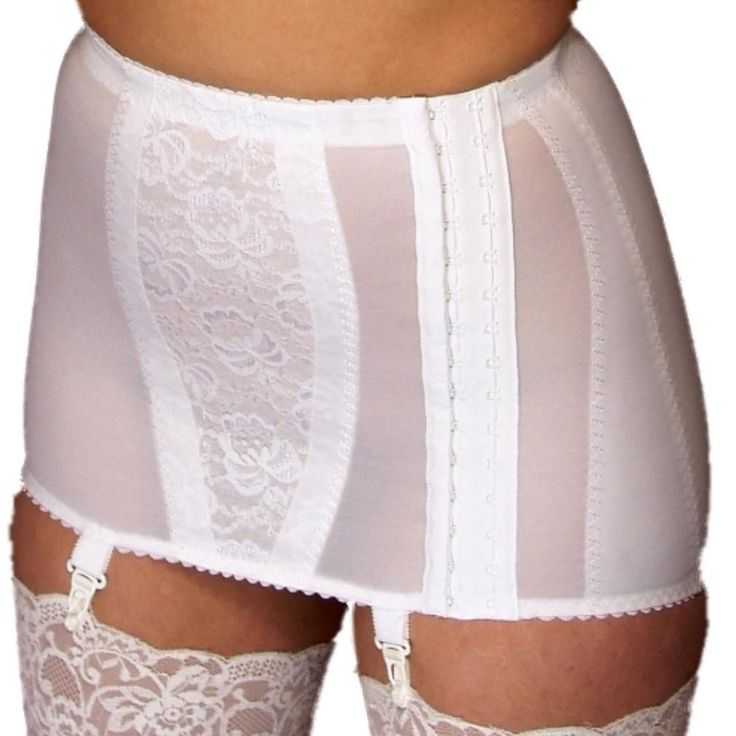 Berdita Lingerie Open Hook-Side Girdle With Garters For Stockings (22001Usa)