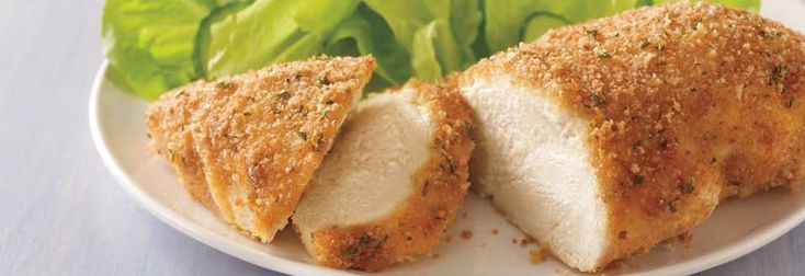 parmesan crusted chicken: Chicken Recipes, Chicken Breasts, Parmesan Chicken, Parmesancrust, Parmesan Crusts Chicken, Food, Parmesan Crusted Chicken, Eating, Breads Crumb