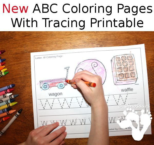 new free abc coloring tracing printable this is a coloring page with letter tracing there. Black Bedroom Furniture Sets. Home Design Ideas