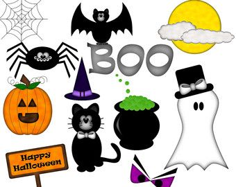 Gentil Happy Halloween Digital Clip Art Set Of 12 By MyMiaMarie On Etsy
