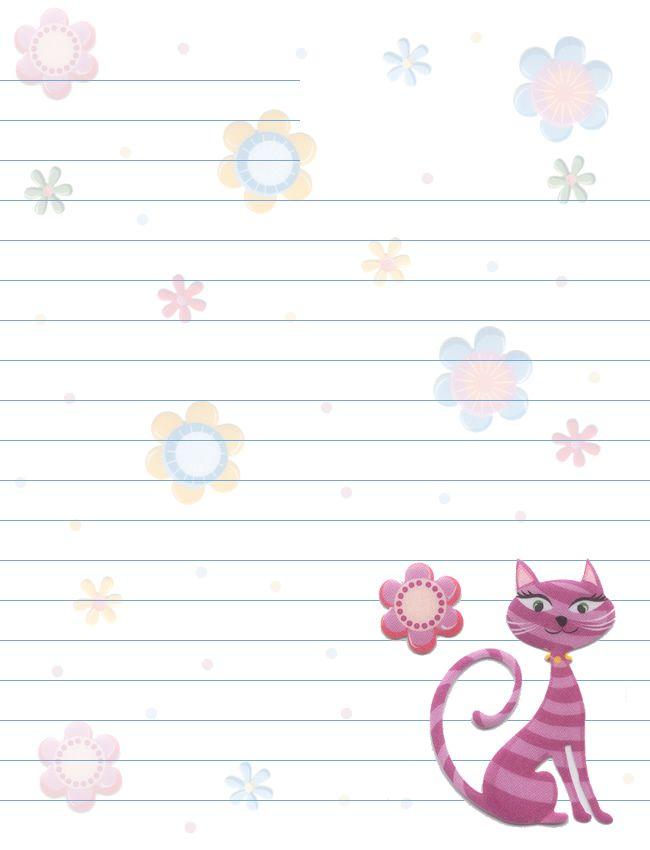 Koty Kwiaty Line papiernicze
