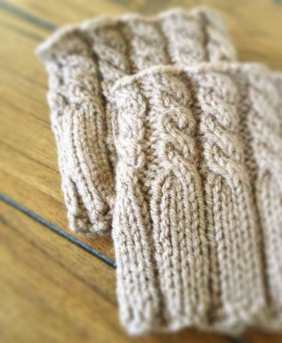 hand knit boot cuffs by AndBeGladInIt on Etsy
