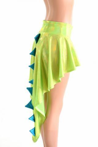 Holographic  Dragon Tail Skirt