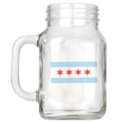 Patriotic Mason Jar with Flag of Chicago USA  $15.95  by AllFlags  - custom gift idea