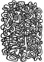 Coloriage adulte Jean Dubuffet : Tapis No. 2
