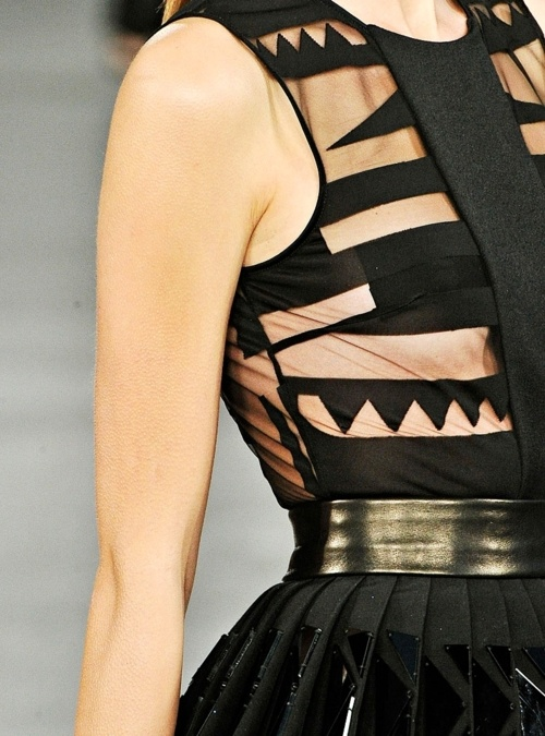 Graphic and sheer