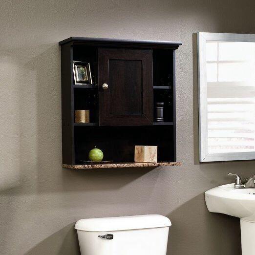 Bathroom Wall Cabinet Holder Organizer Granite Finish Shelf Unit Shower Shelves