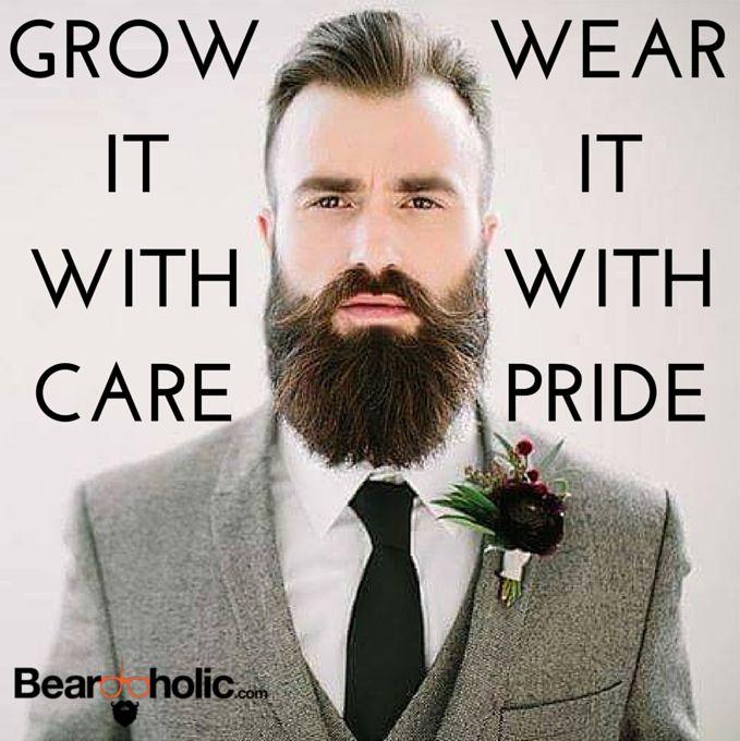 Grow it with care, wear it with pride #beards #beardlove  www.localbeardoil.co.uk