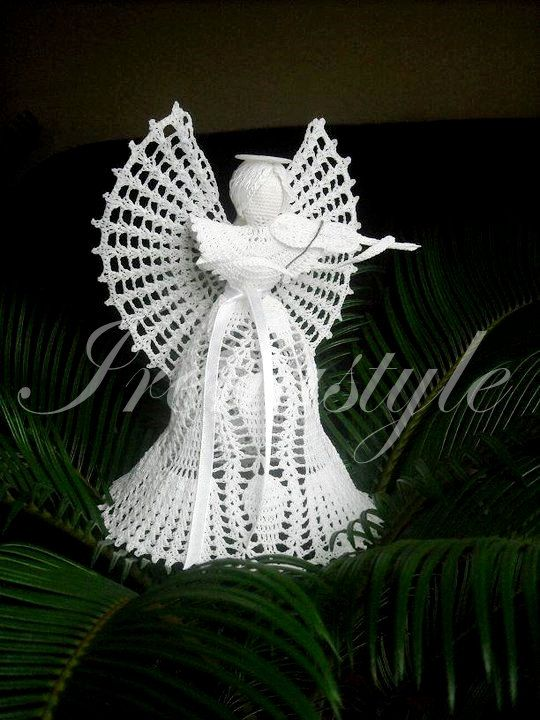Angel KRYSTAL crochet lace 11 Gift for by Irenastyle on Etsy