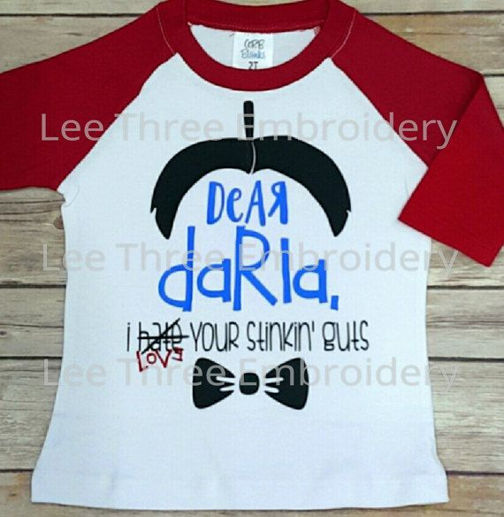 Dear Darla, I hate your stinkin guts. Love, Alfalfa  Little Rascals Valentines shirt Boys raglan Valentines party ideas Valentines Crafts Cupid Heart Arrow