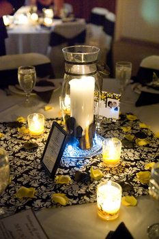 Wedding, Flowers, Reception, White, Black, Yellow