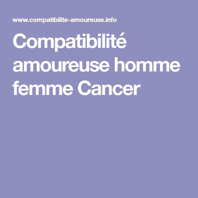 Compatibilité amoureuse homme femme Cancer