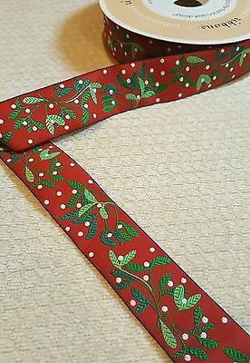 Mistletoe red & green by Renaissance Ribbons By the Yard