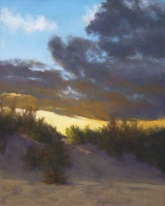 Dan Michael - Above the Dunes- Pastel - Painting entry - July 2014   BoldBrush Painting Competition