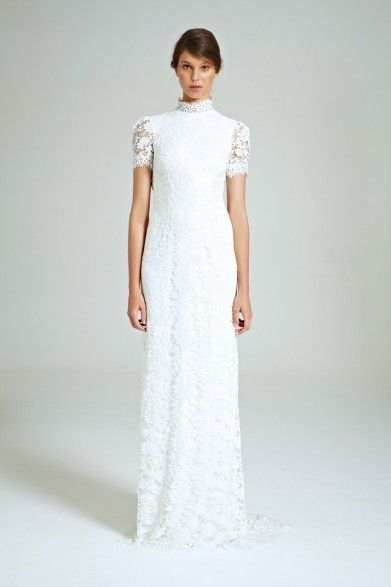 Collette Dinnigan Snowflakes Vee Back Gown