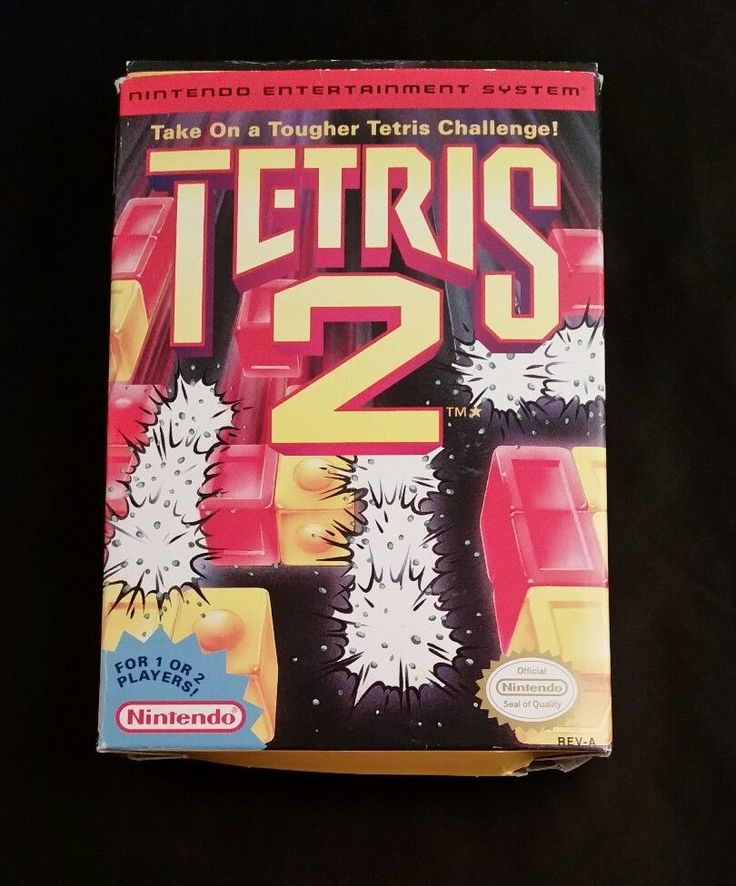 TETRIS 2 Nintendo Vintage Game Cartridge Box Instructions 1993