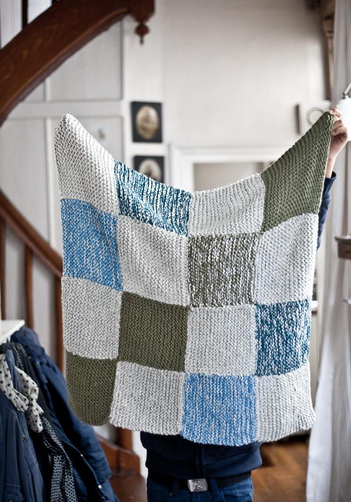 Couverture tricotée