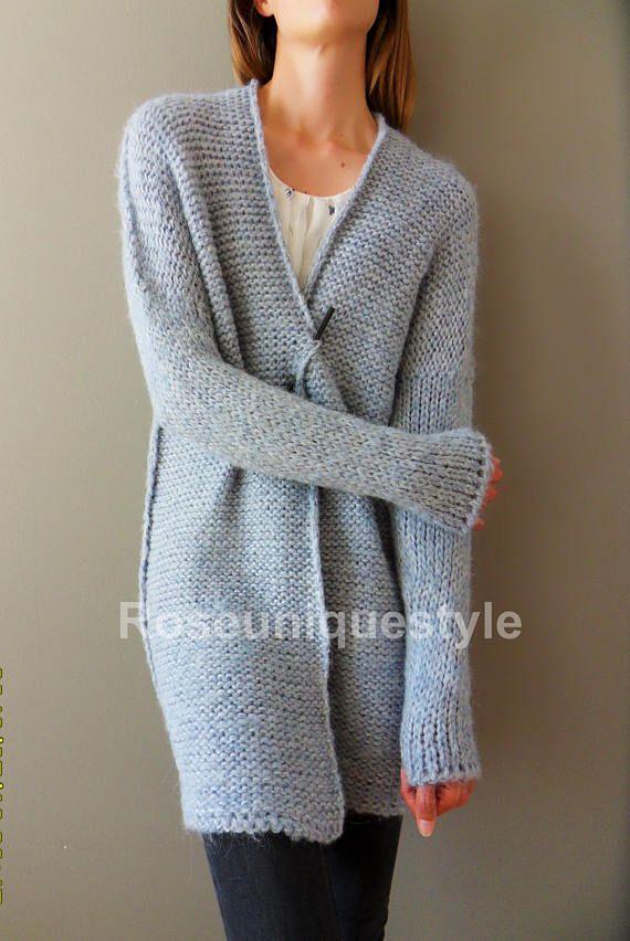 af9e98e9c Alpaca Oversized cardigan. Chunky knit