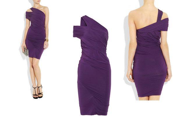 Per la primavera-estate 2012  continua la moda degli abiti monospalla. Lunghi da gran sera o corti per ogni occasione, sono sempre sinonimo di seduzione e sensualità soft. Nella foto: Donna Karan