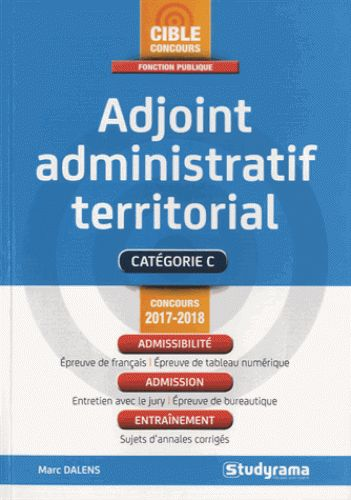 Adjoint administratif territorial  édition 2017-2018