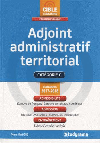 Adjoint administratif territorial  édition 2017-2018