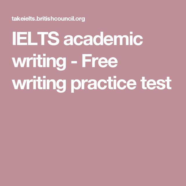 IELTS academic writing - Free writing practice test