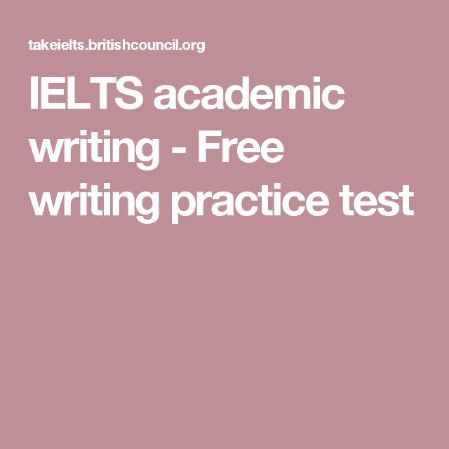 IELTS academic writing - Free writing practice test