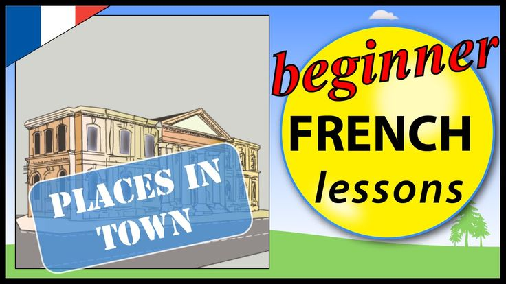 Places in town in French | Beginner French Lessons for Children