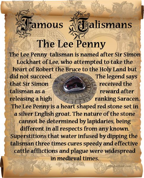 Book of Shadows:  #BOS Famous Talismans ~ The Lee Penny page.