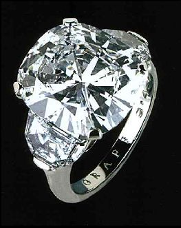This 11.89-carat D-color, Internally Flawless cushion shaped diamond has been featured a number of times in the Graff's advertisements in the New York Times newspaper. Cushion is one of the oldest diamond cuts there is