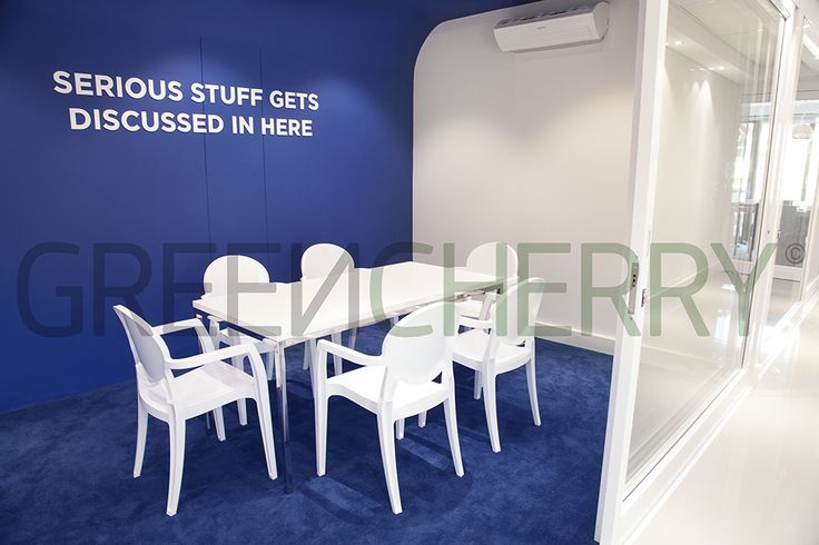 Meeting Room / Blue Room by Greencherry Interiors http://greencherrylife.com/