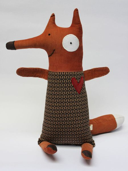 """Fabric fox inspiration... I could embroider """"Ring-ding-ding-ding-dingeringeding!"""" on his belly :)"""