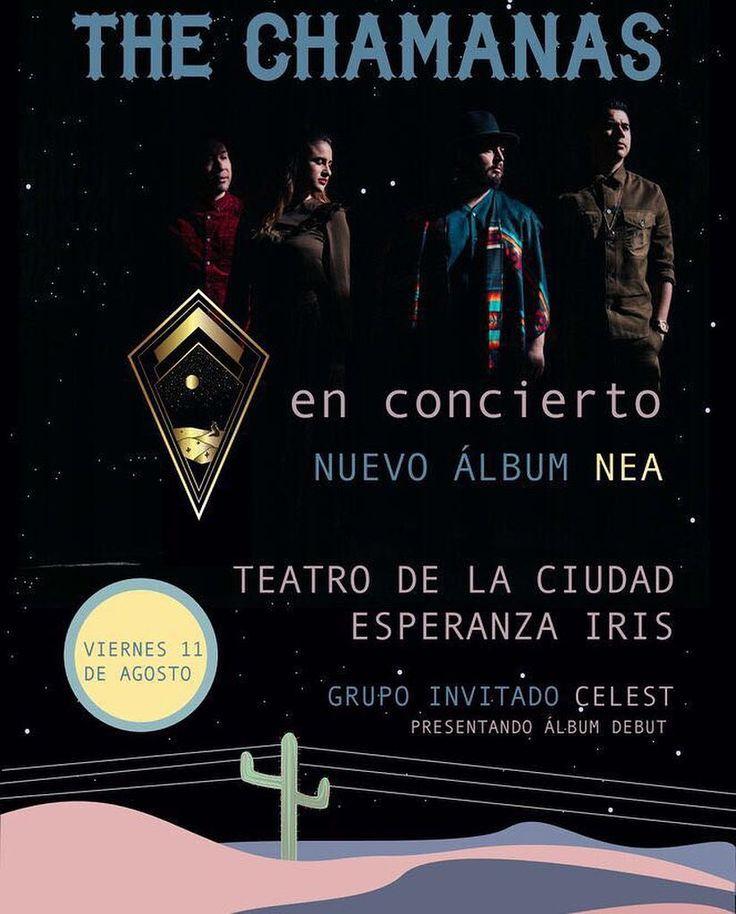 Presentación de disco el Teatro de la Ciudad de Mexico. Agosto 11. Los boletos ya están a la venta en Ticketmaster#thechamanas
