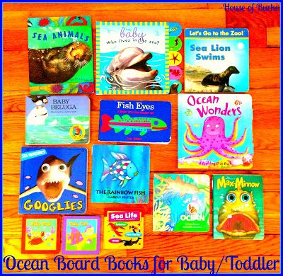 Ocean Board Books for Baby and Toddler - Baby School Ocean Theme - House of Burke