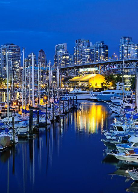 Marina, Granville Island, Vancouver, British Columbia.  Photo: Bruce Irschick via Flickr