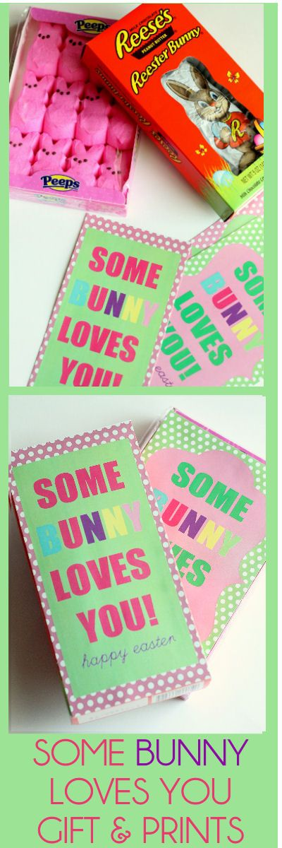 Some BUNNY Loves You Gift Idea with free prints. { lilluna.com } #easter