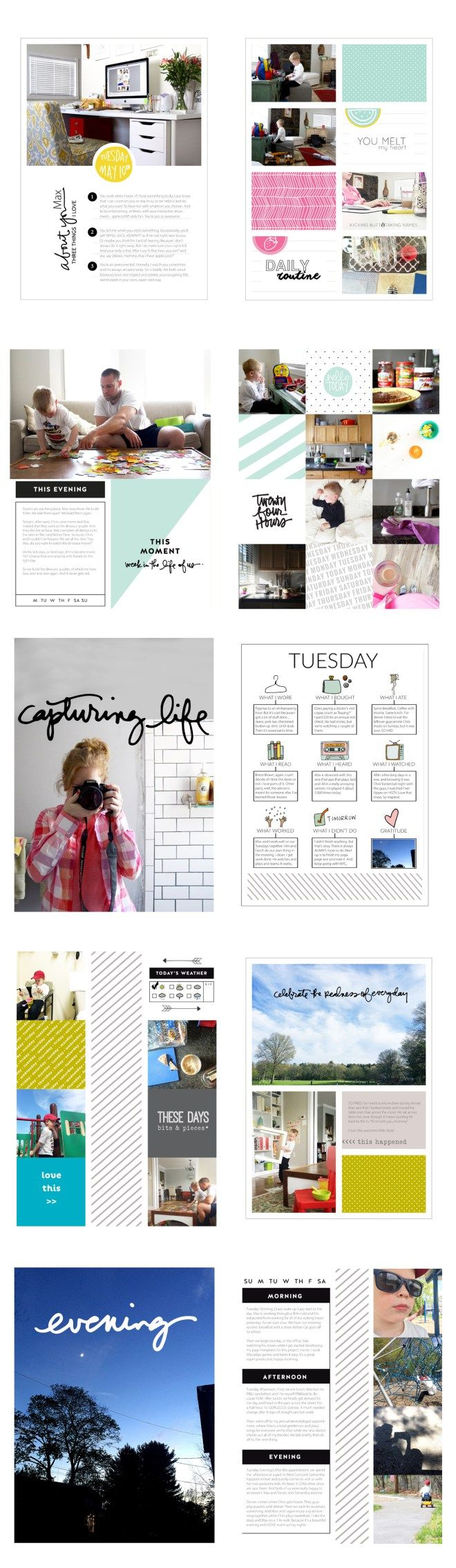 Week in the Life 2016 by Julie Love Gagen using digital Ali Edwards files and Project Life