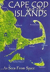 Cape Cod & Islands Earth View Map Postcard by crayolamom