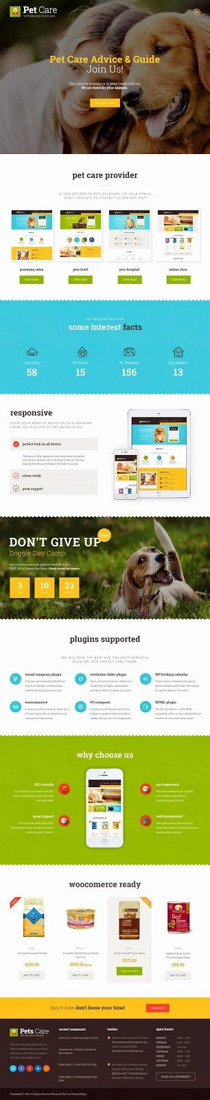 Pet Care Amazing #Animal Shelters and Shop WordPress Theme #website #design