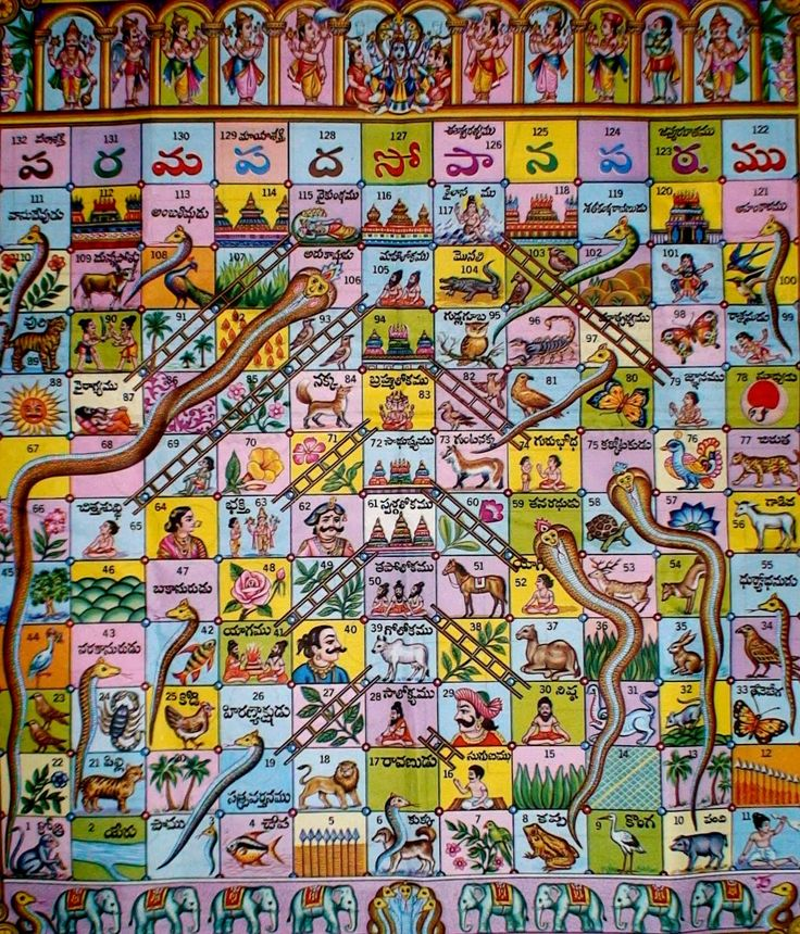 Vaikuntapali, the original Snakes and Ladders