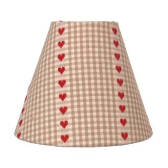 Classic Candle Shade in Natural Heart Gingham from www.jim-lawrence.co.uk #valentine