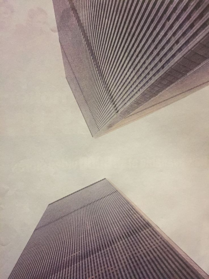 Twin Towers. Picture by Lance Zeeman. Early 2001. NYC. USA