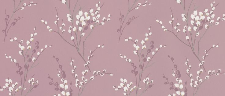 Pussy Willow Grape Floral Wallpaper at Laura Ashley