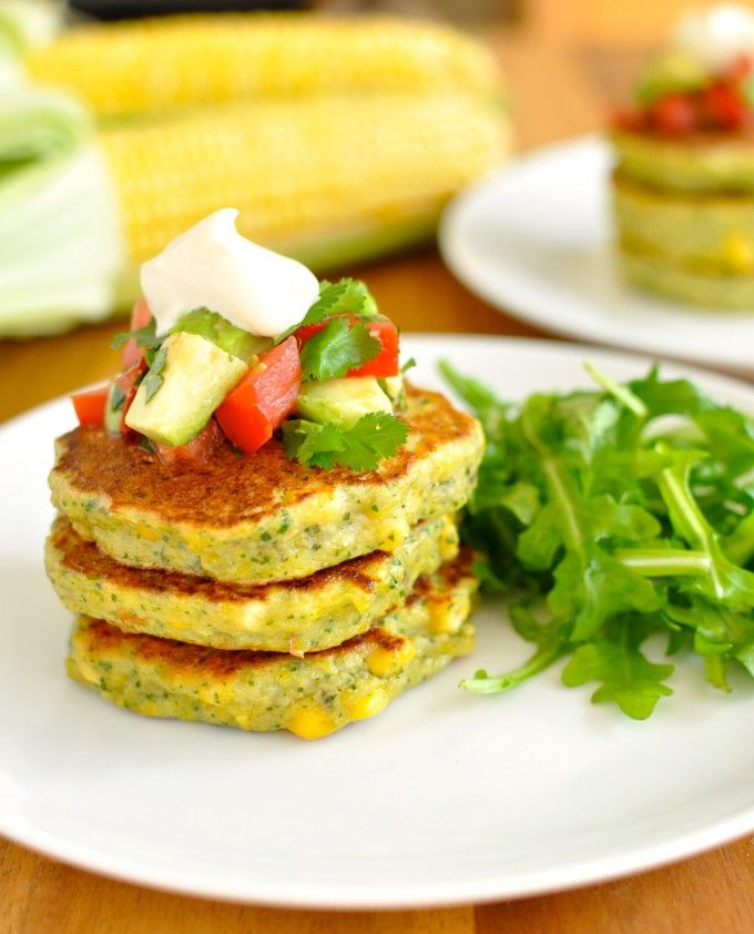 Bill Granger's Corn Fritters with Avocado Salsa - the extra step of blending corn with the batter is the reason why these are the best! (And easy…I only post easy recipes!)