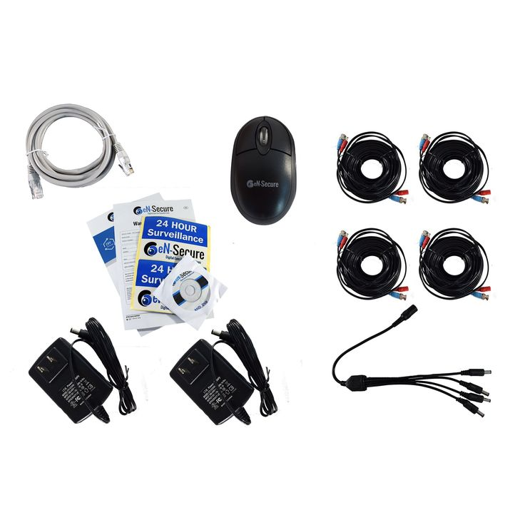 En-Secure 8 Channel DVR Cctv Kit with 4 1080p HD 2MP Bullet and 4TB Hard Drive