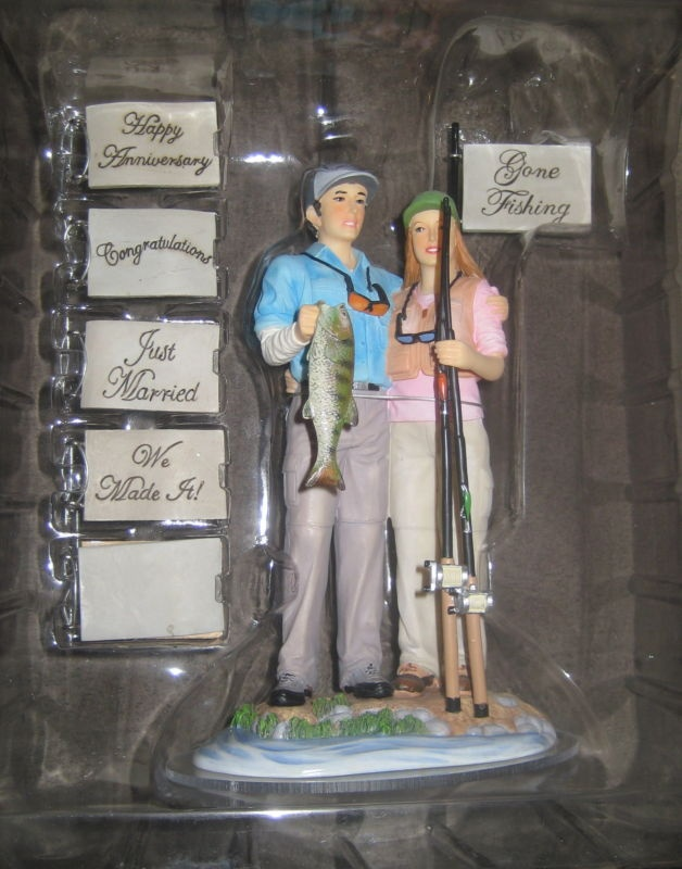 Fish Fishing Wedding Cake Topper