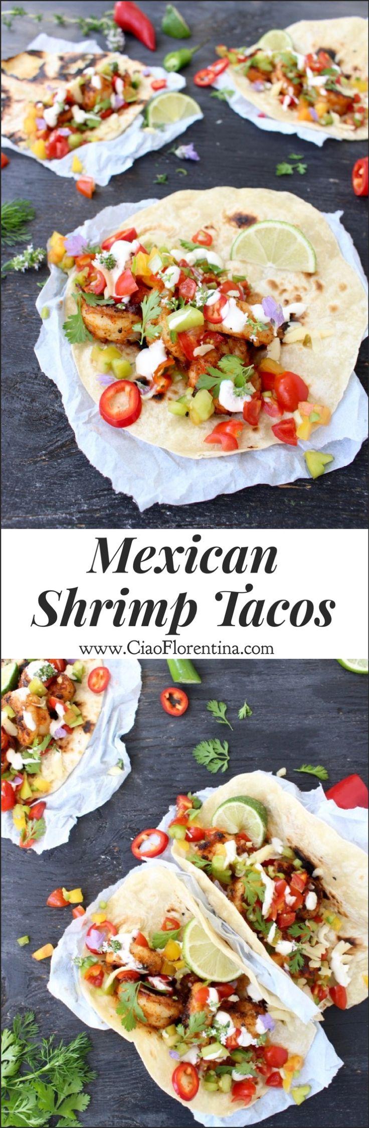 Mexican Shrimp Tacos with Salsa Fresca   CiaoFlorentina.com @CiaoFlorentina
