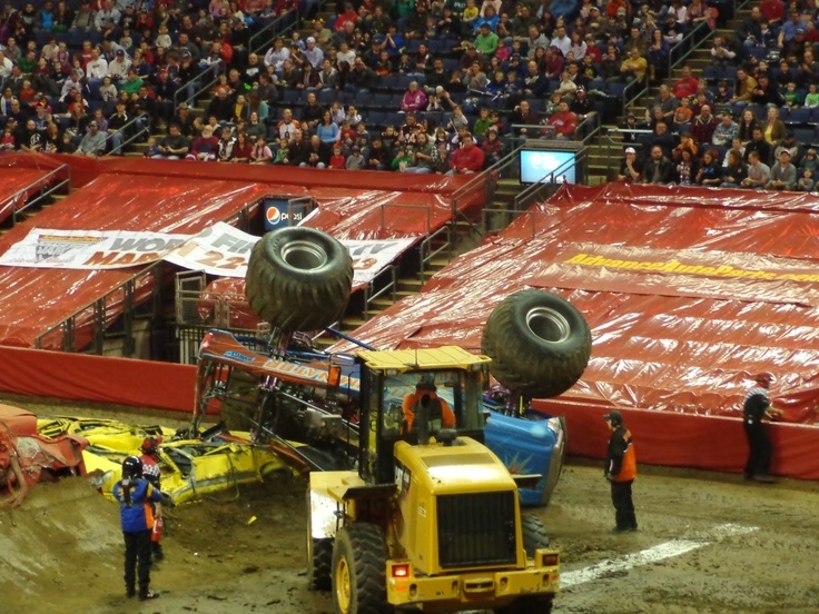 Destruction Of A Monster Truck In The Path of Destruction. Your All Favorite Advance Auto Parts Moster Jam #AdvanceAutoParts #MonsterJam #Favorite #Destruction #Sports #AskaTicket